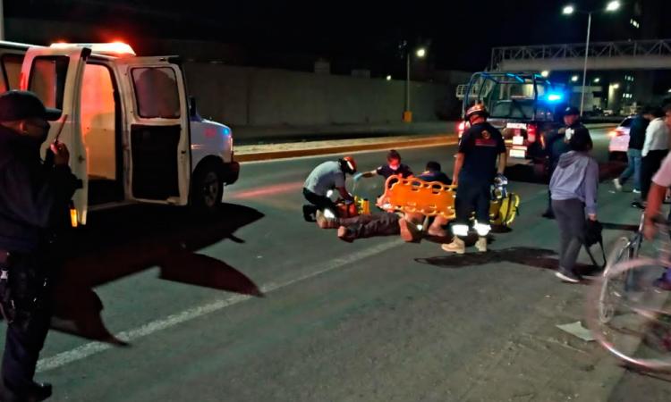 Hombre resulta herido tras caída de bici en la Puebla-Tehuacán