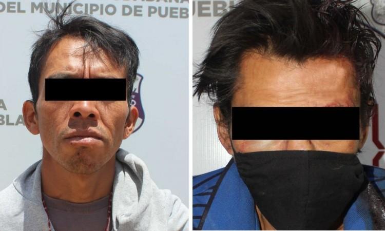 Detienen a dos presuntos asaltantes de transeúntes