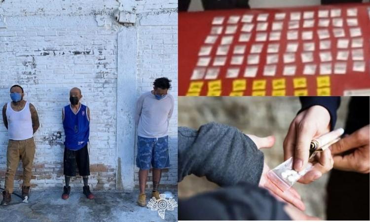 Captura a 3 presuntos narcomenudistas en Ajalpan