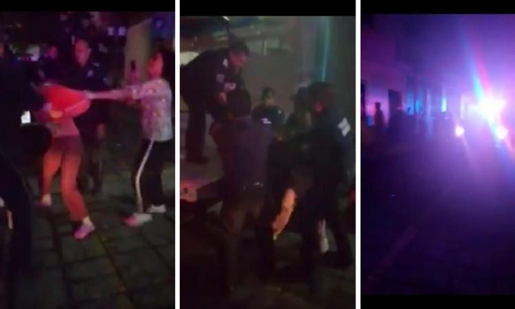 Policías municipales de Huauchinango golpean a mujeres