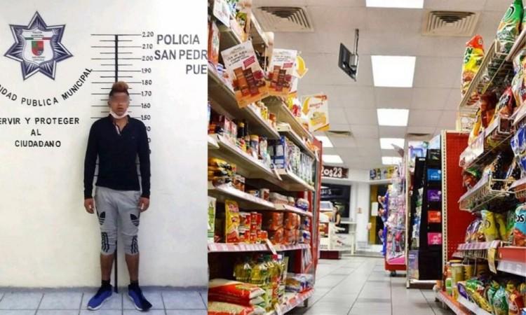 Detienen de un asaltante de tiendas de conveniencia en San Pedro