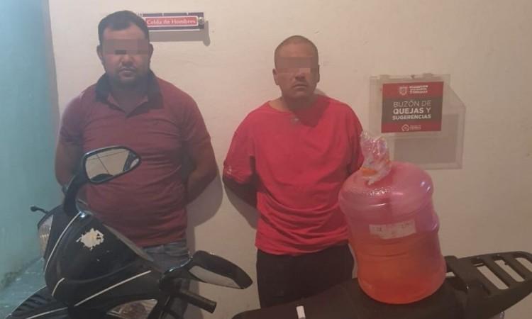 Detienen a dos presuntos huachicoleros en Texmelucan: SSP