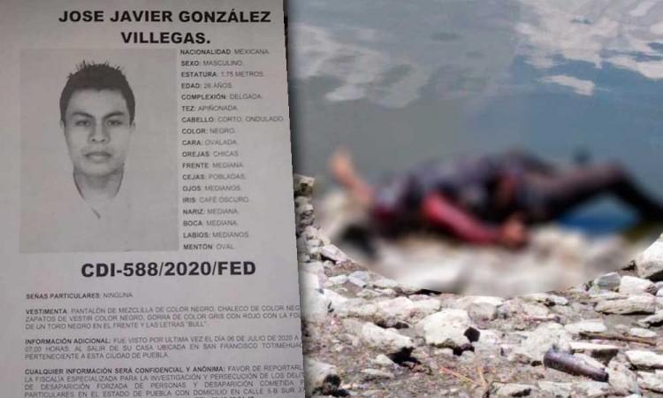 Cadáver en Laguna Valsequillo era José Javier, reportado como desaparecido