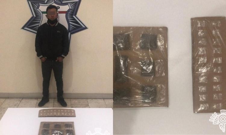 Detienen a presunto narcomenudista en Amozoc