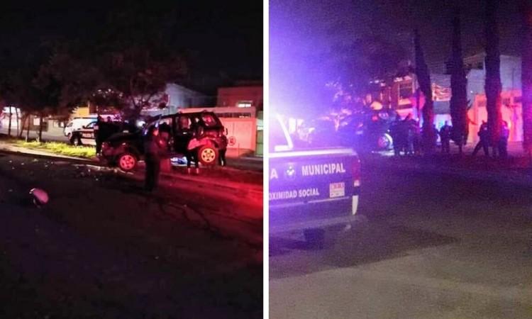 Persecución y balacera termina con un delincuente herido en Guadalupe