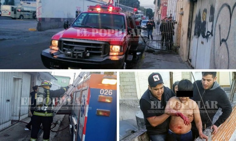 Reportan dos incendios en el centro y colonia Maravillas; Bomberos rescatan a una mujer y su nieto