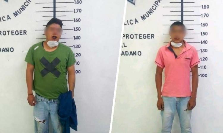 Por poco linchan a dos presuntos asaltantes en Cholula