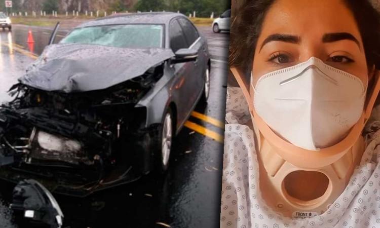 Alcaldesa de Xicotepec ocasiona accidente por ir a exceso de velocidad