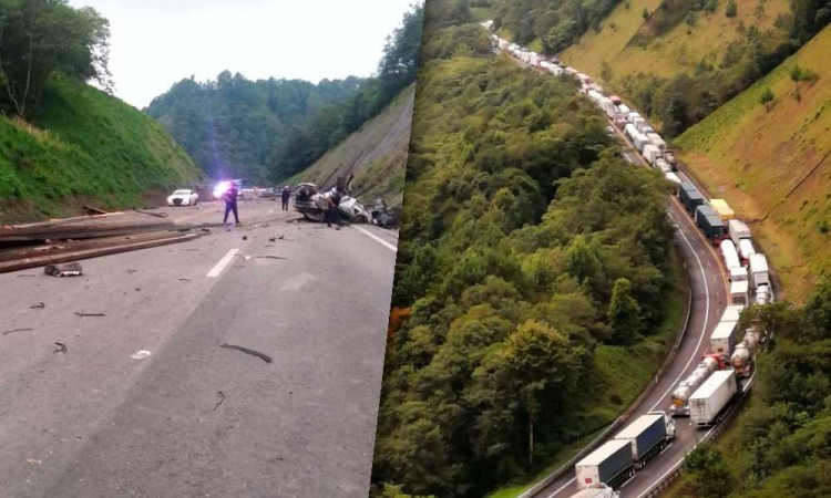 Tragedia en pista de Huachinango; tráiler mata familia en un accidente vial