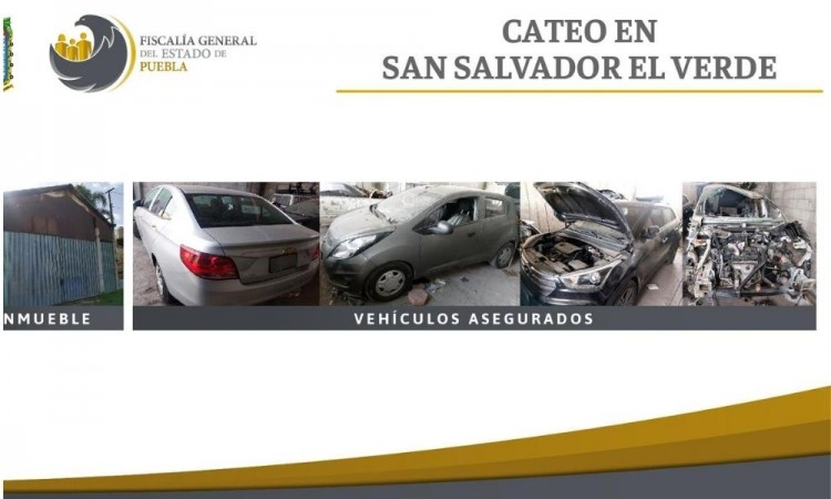 Aseguran inmueble donde desmantelaban vehículos robados en San Salvador El Verde
