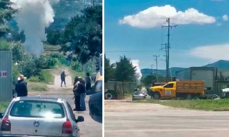 Huachicoleros regresan, se registra fuga de Gas LP en Tepeaca