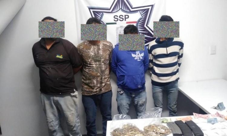 Capturan a miembros de banda delictiva que opera la región de Atlixco, Tepeojuma e Izúcar de Matamoros