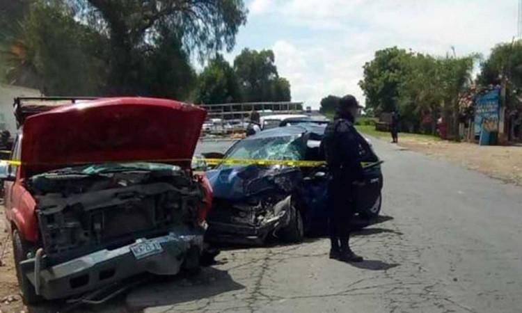 Fuerte accidente en la Tecamachalco-Cañada Morelos