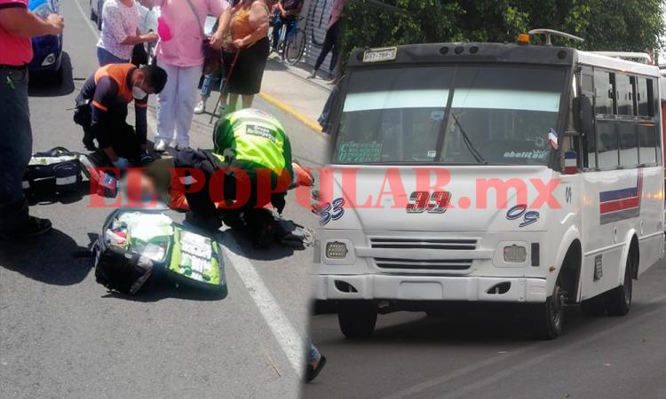 Hombre de la tercera edad muere atropellado por transporte público
