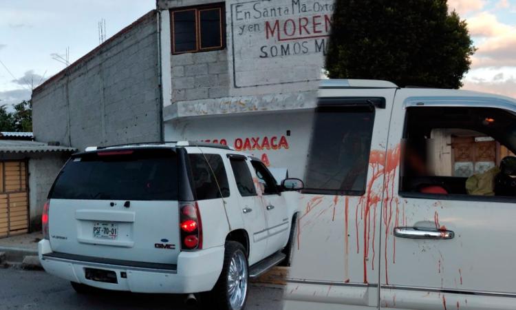 Balean a tripulantes de camioneta en Tepeaca, hay un muerto