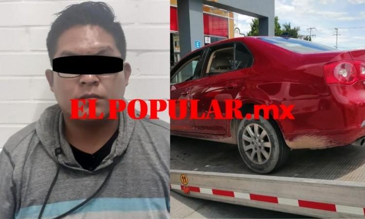 Detienen a hombre por detentar auto con reporte de robo en Atlixco