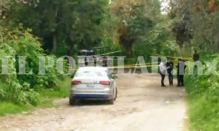 Hallan cadáver encobijado en San Andrés Cholula