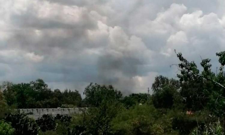 Explota pipa de Gas LP en Tepeaca, hay dos heridos