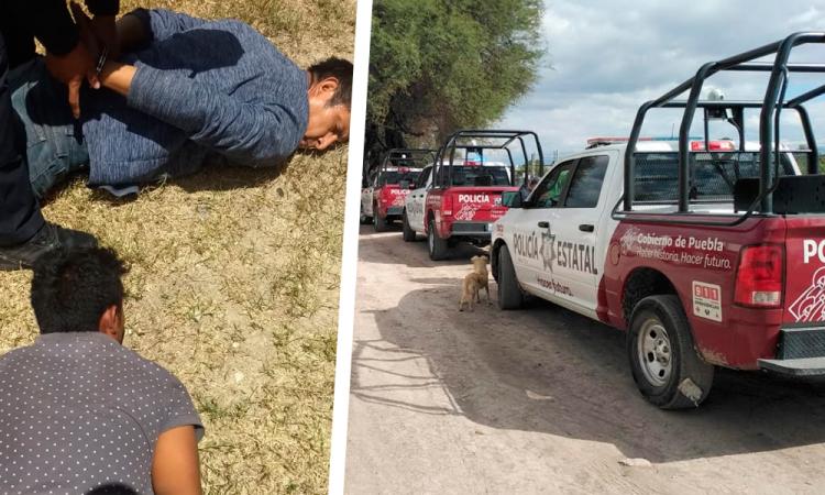 Persiguen a ladrones en Tehuacán hasta su escondite y hallan un cadáver