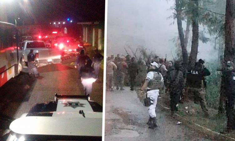 Rescatan 400 policías a elementos de la AEI, tras amenazas de habitantes de Coxolico, Ajalpan