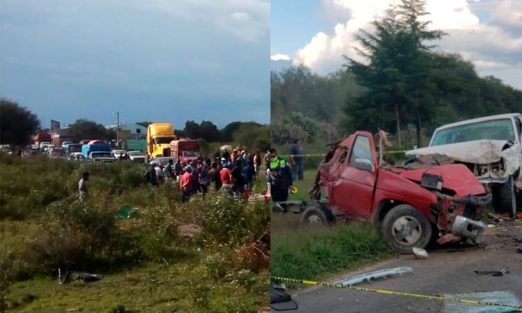 Varios lesionados y daños materiales, deja choque múltiple en tramo de la muerte en Tlacotepec