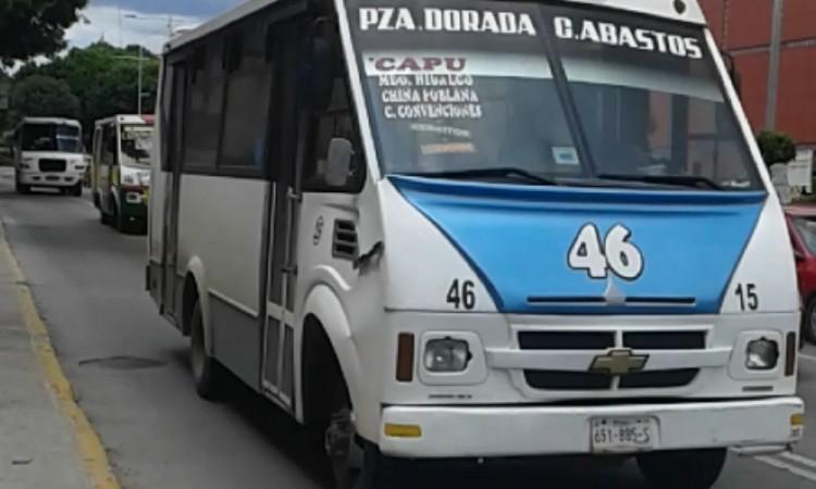 Reportan robo a pasajeros a la ruta 46 en la colonia Santa María