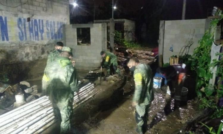 Lluvias afectan a decenas de familias en Amozoc