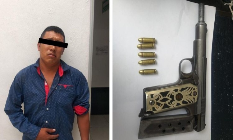 El detenido se identificó como Tomás L, de 31 años, originario de Huaquechula.
