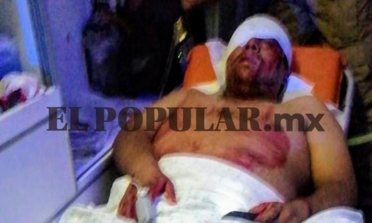 El sujeto fue llevado al centro hospitalario La Paz.