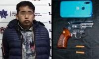 Policía de Huejotzingo asegura a probable responsable de robo a transeúnte
