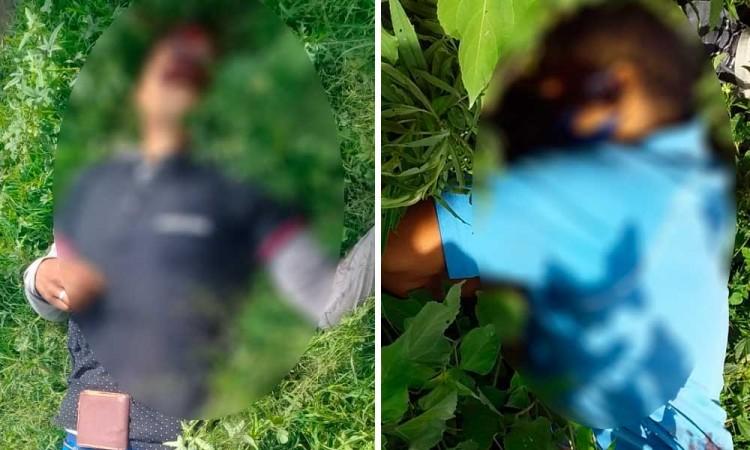 Asesinan a dos sujetos detrás de la Central de Abastos de Huixcolotla