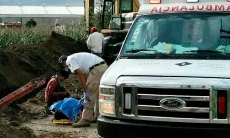 Muere trabajador de una obra de drenaje en Coronango