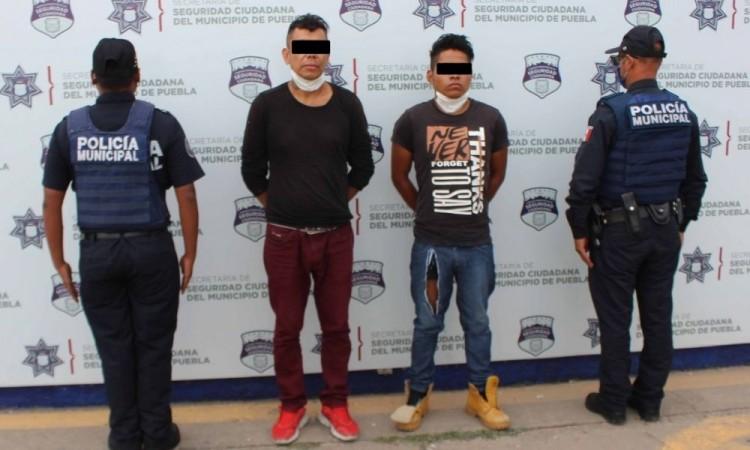 Detienen a dos hombres por robo a transeúnte en San Ramón Cuarta Sección