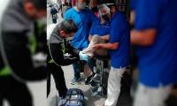 Le fractura la pierna a trabajador sin motivo aparente