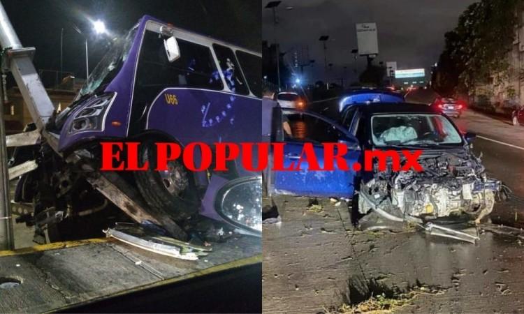 Chocan vehículos y los abandonan en San Andrés Cholula y Amalucan