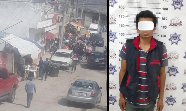 El presunto homicida quedó detenido y fue remitido ante las autoridades ministeriales.