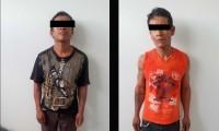 Detienen a un par de hermanos por pelear en las calles de Chietla