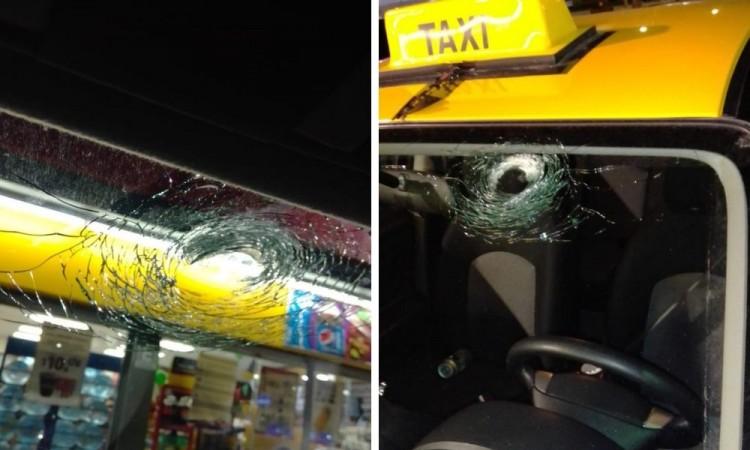 Taxista escapa de asalto y resulta ileso pese a que le dispararon