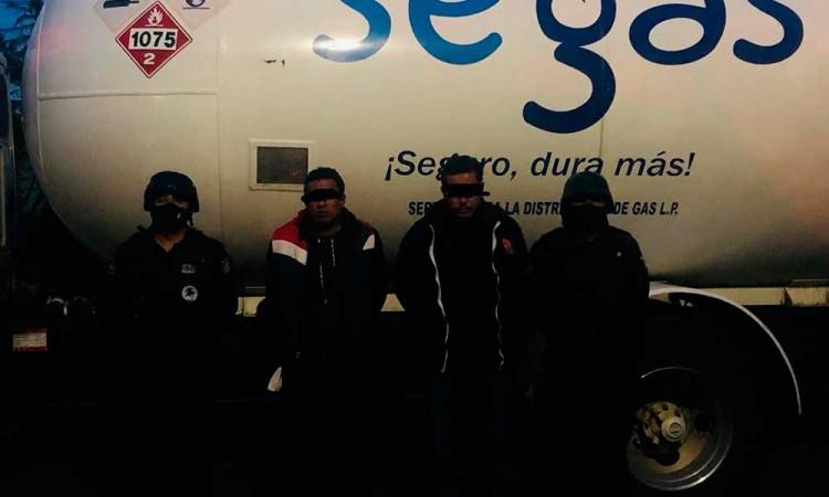 Los atrapan con gas robado en la Puebla-Tlaxcala