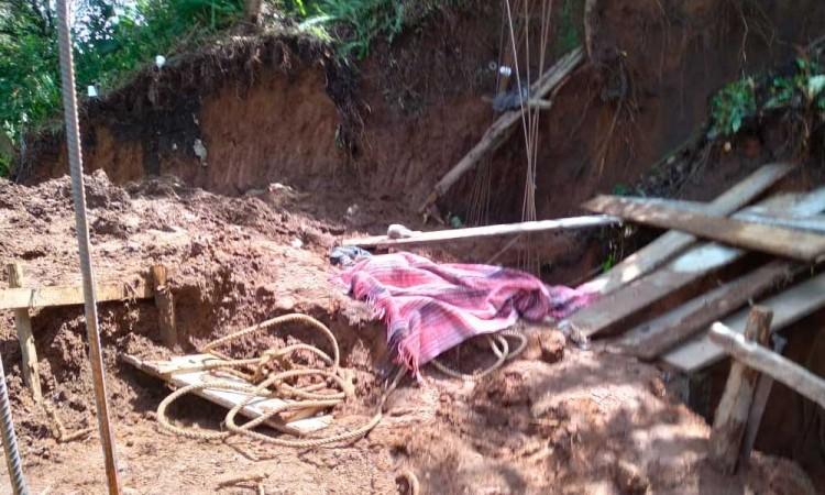 Desgajamiento de tierra cobra la vida de una persona en Huauchinango