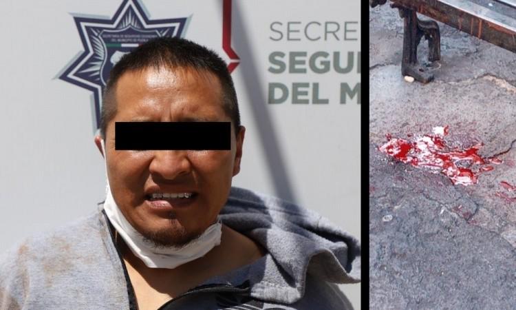 El atacante fue remitido a la Dirección de la Policía Municipal.