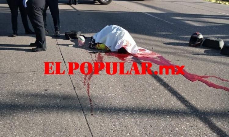 Motociclista muere por choque con taxi en Parque Industrial Puebla 2000