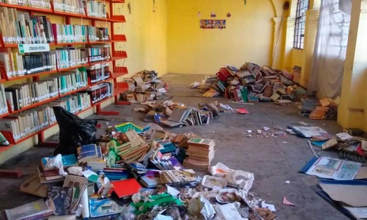 Roban en la madrugada biblioteca de San Baltasar Temaxcalac