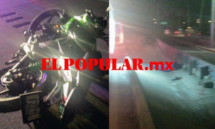 Motociclista muere por derrape en la autopista México-Puebla