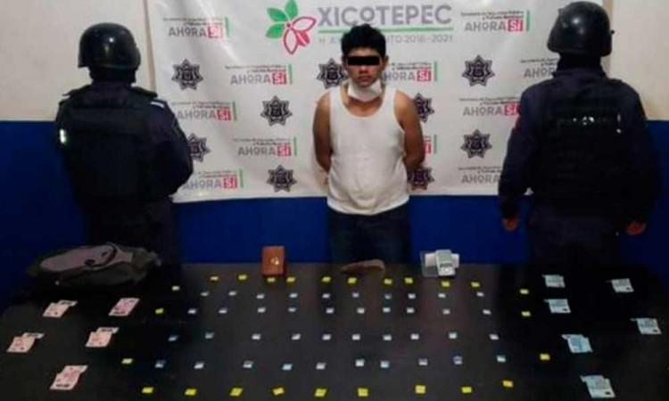 Cae narcomenudisra en Xicotepec de Juárez