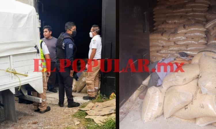 Hombre muere aplastado por bultos de maíz en Central de Abasto