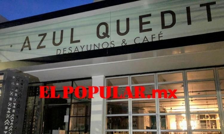 Por séptima ocasión dan cristalazo y roban en cafetería Azul Quedito, en la colonia Santa Cruz Buenavista