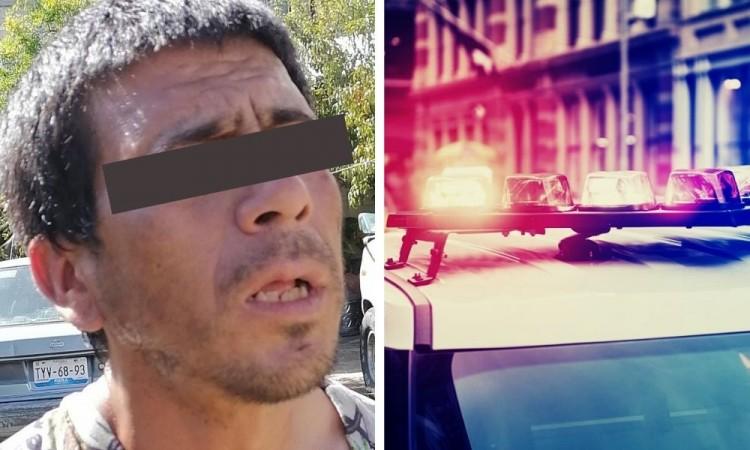 El hombre, de aproximadamente 35 años, fue capturado y golpeado.