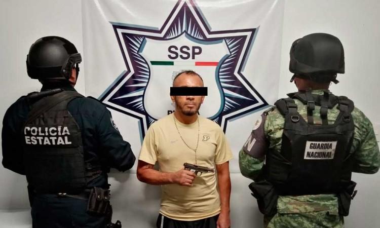 Atrapan a pandillero originario de Los Ángeles en Chietla
