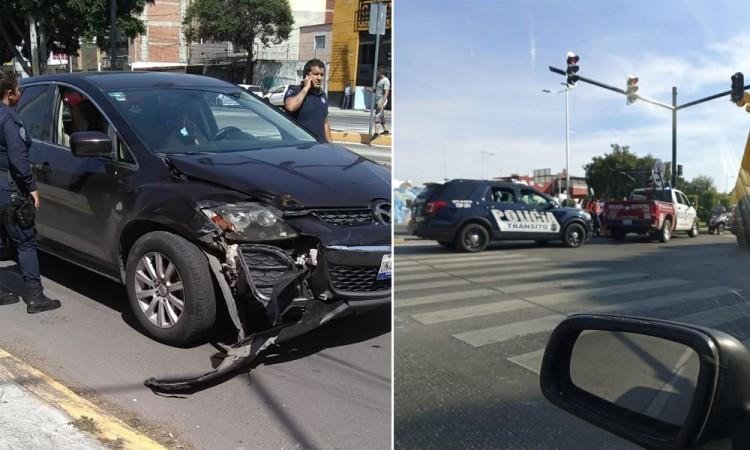 Ocurren dos choques de patrullas sobre el bulevar 5 de Mayo